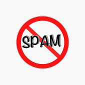 stock photo of spam  - no spam vector icon - JPG