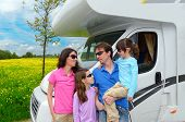 stock photo of camper  - Family vacation - JPG