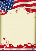 picture of waving  - American poster waving flag background - JPG