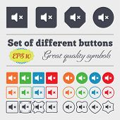 foto of high-quality  - Mute speaker Sound icon sign Big set of colorful diverse high - JPG