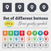 pic of gps  - Map pointer award GPS location icon sign Big set of colorful diverse high - JPG