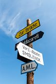 pic of nazi  - signpost against the blue sky - JPG