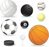 picture of bowling ball  - Vector Sport balls collection for your design - JPG