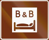 stock photo of bed breakfast  - Finnish road sign 774 b - JPG