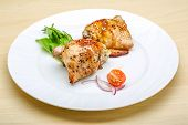 picture of thighs  - Roasted chicken thighs with herbs and spices - JPG