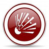 stock photo of bomb  - bomb red glossy web icon - JPG