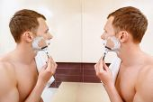 image of shaving  - Double trouble - JPG