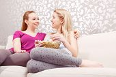 stock photo of pajamas  - Movie night - JPG