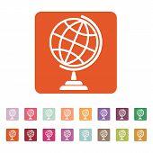 foto of globe  - The globe icon - JPG