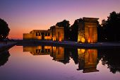 pic of isis  - Sunset over the Templo de debod in Madrid - JPG