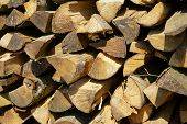 picture of firewood  - Background of dry firewood logs in a pile - JPG