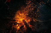 picture of fire  - fire in nature  - JPG