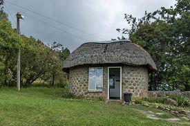 foto of zulu  - One entrance gate in Drakensberg mountain - JPG