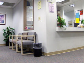 image of medical office  - reception and waiting room area in a doctor - JPG