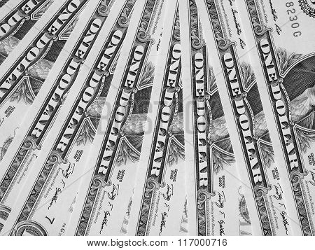 Black And White Dollar Notes 1 Dollar