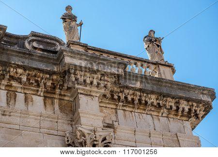 Roman Catholic Assumption Cathedral in Dubrovnik Croatia