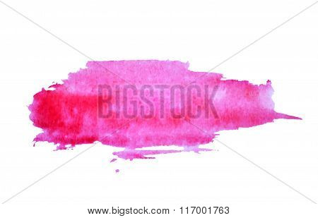 Abstract splash of watercolor on white background, vector  illustration