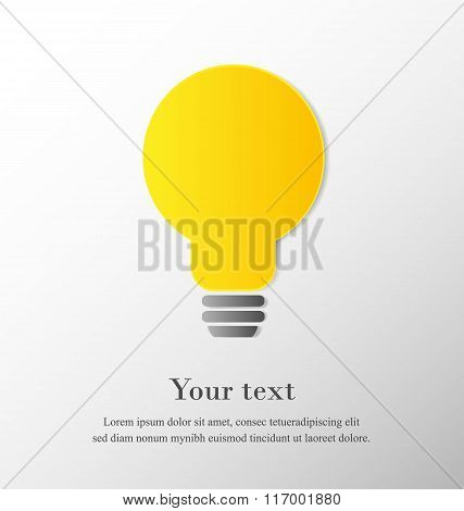 Light bulb with space on grey background