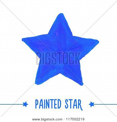 0344 - painted star