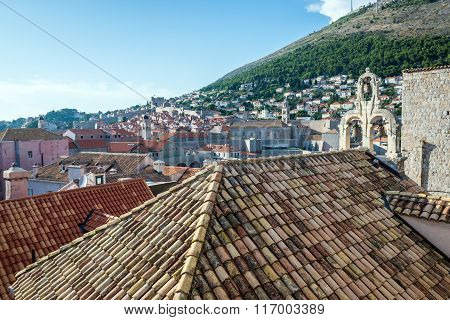 Old Town of Dubrovnik seen from city walls Croatia