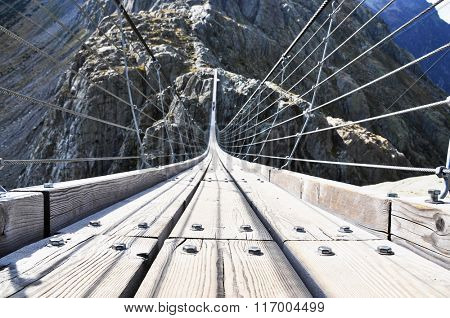 170m hanging Trift bridge, Switzerland