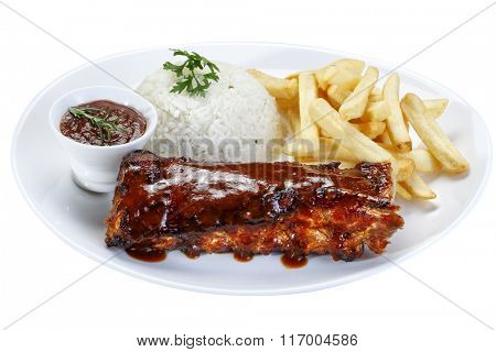 roast ribs with barbecue sauce