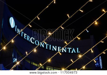 Bucharest, Romania - December 25: Hotel Intercontinental On December 25, 2015 In Bucharest. Horizont