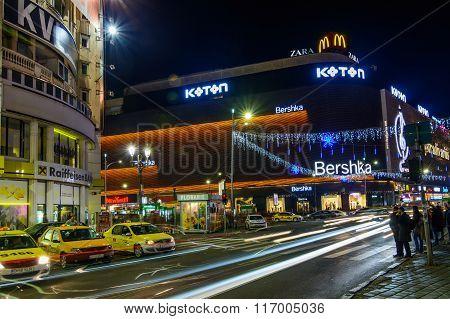 Bucharest, Romania - December 25: Unirea Shopping Center On December 25, 2015 In Bucharest. Horizont