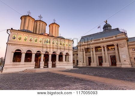 Bucharest, Romania - January 4: Metropolitan Church On January 4, 2016 In Bucharest. Exterior Pictur