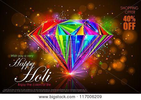 Colorful Holi shopping sale background
