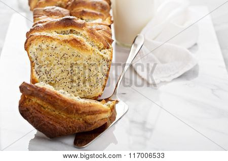 Yeast pull apart sweet bread with cream cheese