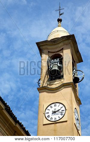 Jerago Old Abstract In  Italy   And Church Tower Bell Sunny Day