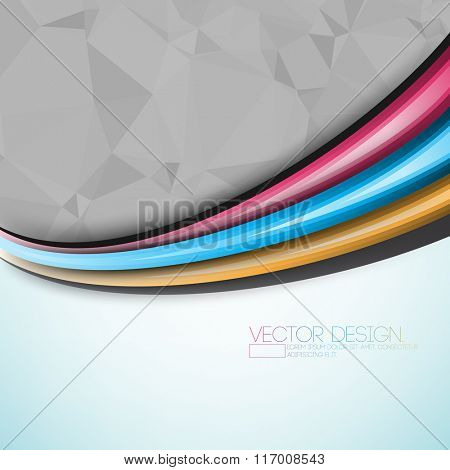 multicolor bent lines and triangular background design