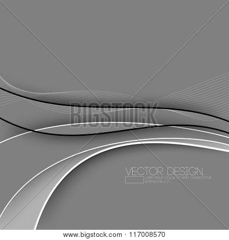minimalism bent flowing line art design