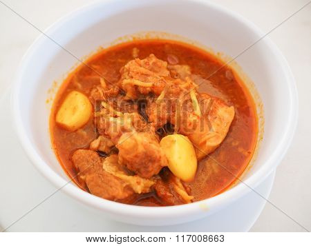 Thai Northern food Kaeng Hung Ley Moo (Pork Curry)