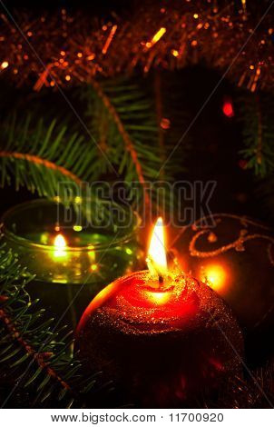 Candles And Decoration Ball
