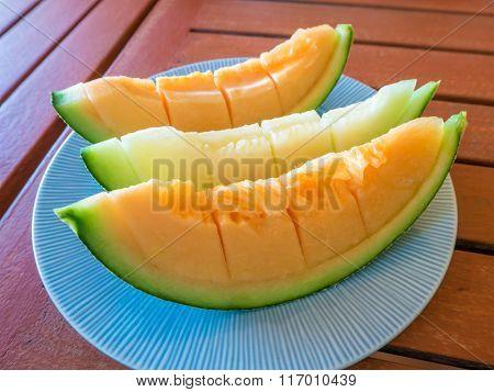 Slice of Japanese melon