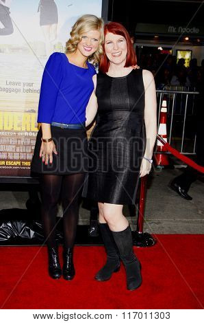 Arden Myrin and Kate Flannery at the Los Angeles Premiere of