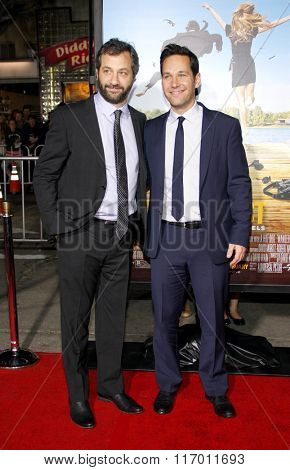 Judd Apatow and Paul Rudd at the Los Angeles Premiere of