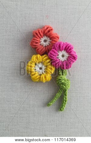Petal Puff Stitch Crochet Flower