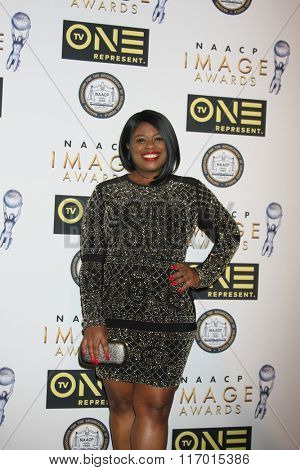 LOS ANGELES - FEB 4:  Angel Higgs at the Non-Televised 47TH NAACP Image Awards at the Pasadena Conference Center on February 4, 2016 in Pasadena, CA