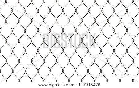 Steel Chain Link Fence Background Texture Isolated