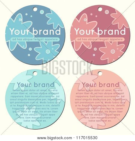 vector round double sided label tag designs for retail