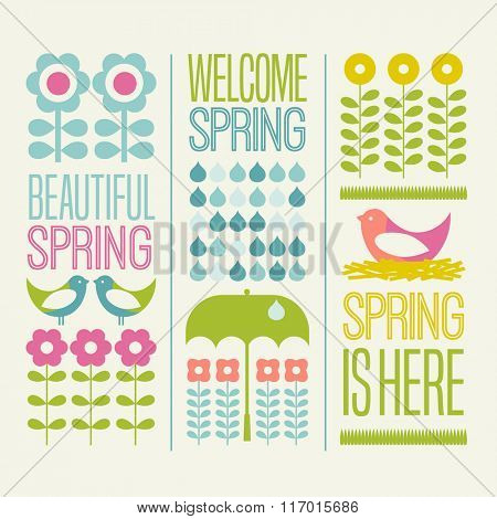 Spring seasonal design elements