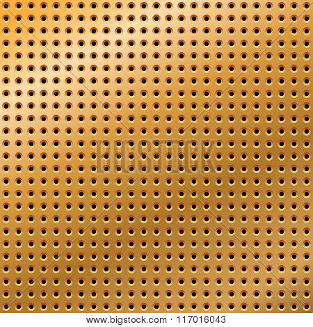Abstract golden metal background