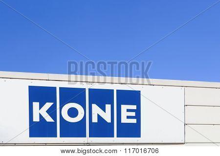 Kone logo on a facade