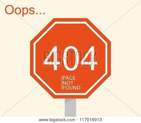 Concept Page 404. Simple Design