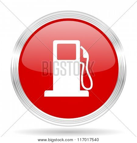 petrol red glossy circle modern web icon on white background