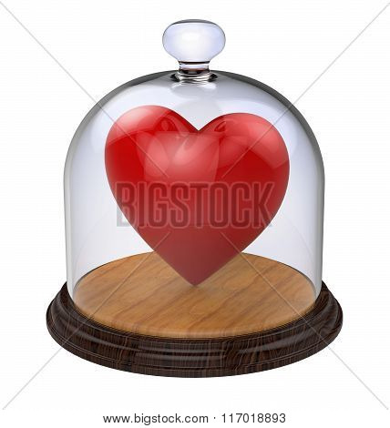 Impregnable heart in a glass case