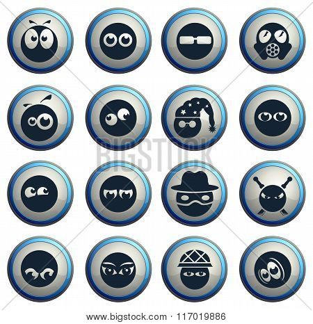 Emotions and glances icons set